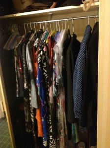 dresses in my closet at the Hilton hotel. They are lightweight and can fit in one suitcase.