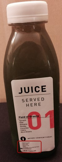 Juice Served Here Plastic Bottle Fron