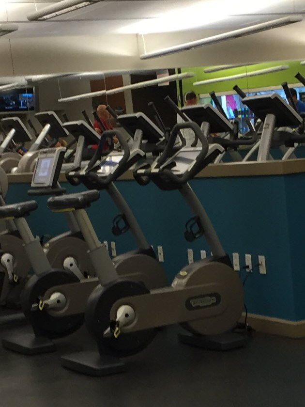 Treadmills and bikes at Palazzo Gym