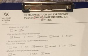 """""""Shaking"""" my information with the spa"""