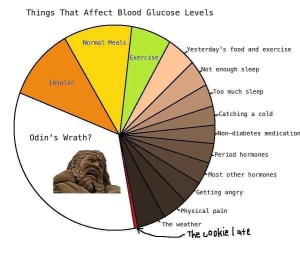 Things that affect blood glucose levels
