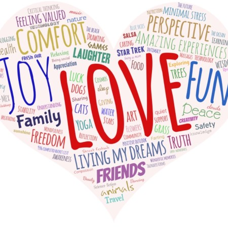 What makes me happy? Family, friends, joy, freedom