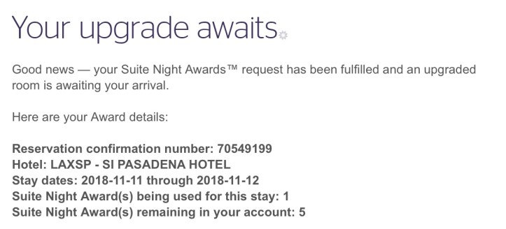 Marriott suite night rewards