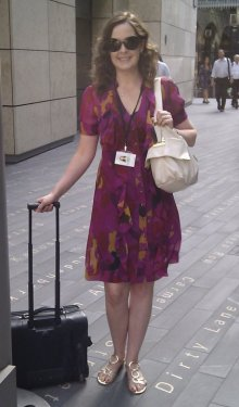 Business Woman Working in London