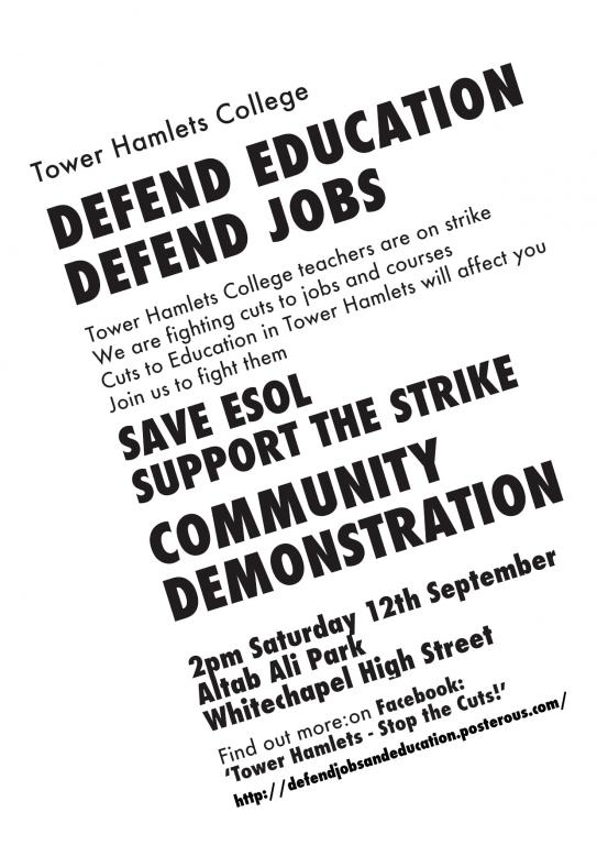 ESOL teachers on indefinite strike in Tower Hamlets