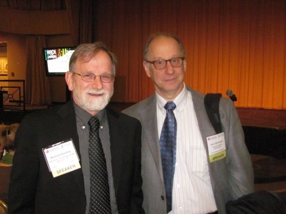 Long-time CIL Attandee Marshall Breeding (L) and David Weinberger