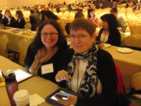 Two librarians from the Upper Dublin PA Public Library (my local library) at the keynote: (L) Molly Kane and (R) Kathleen Brannon