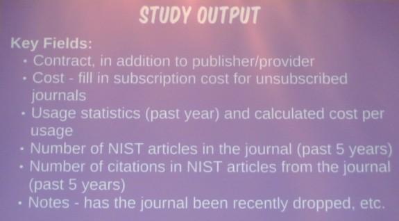 Study Output
