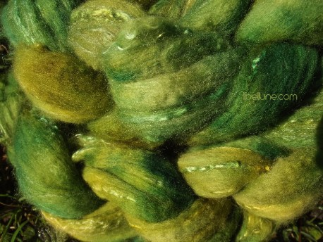 """teinture """"greenman"""" sur mérinos et soie"""