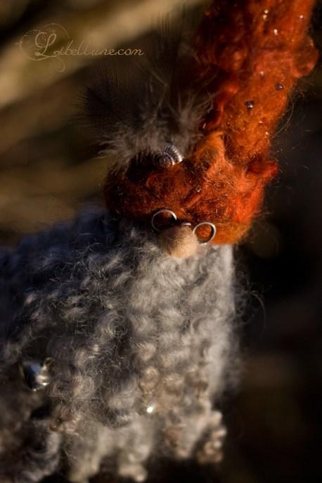 Lutin de noël en laine feutrée