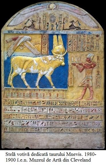 10.2.7.1 Stelă votivă dedicată taurului Mnevis. 1980-1900 î.e.n. Muzeul de Artă din Cleveland