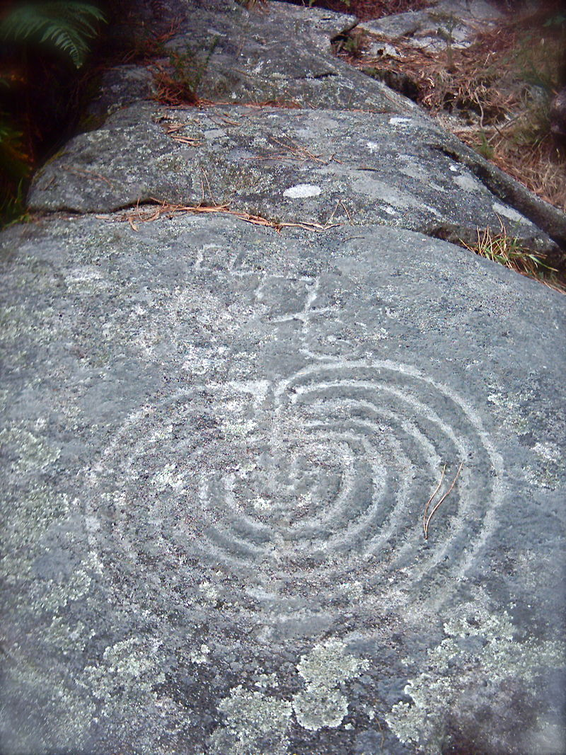 11.1.9.00 Labyrinth at Meis, Galicia, possibly from the Atlantic Bronze Age