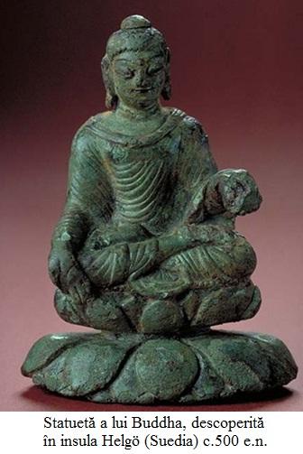12.3.10.1 Statuetă a lui Buddha, descoperită în insula Helgö (Suedia) c.500 e.n.