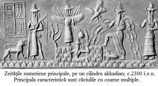 13.3.9.01 Zeităţile sumeriene principale, pe un cilindru akkadian; c.2300 î.e.n.