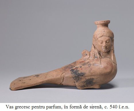 13.4.4.01 Vas grecesc pentru parfum, în formă de sirenă, c. 540 î.e.n.