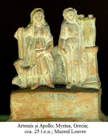 14.3.7.01 Artemis şi Apollo; Myrina, Grecia; cca. 25 î.e.n.; Muzeul Louvre