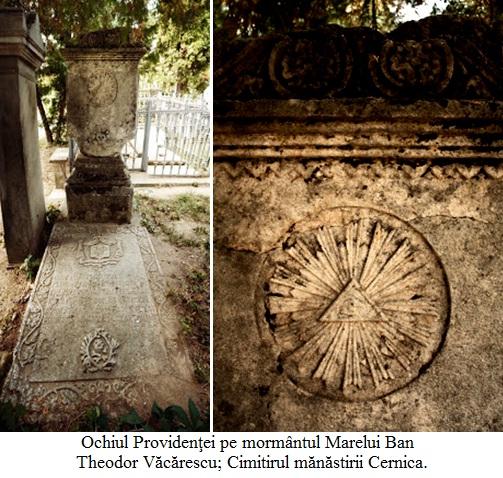 16.1.10.01 Ochiul Providenţei pe mormântul Marelui Ban Theodor Văcărescu; Cimitirul mănăstirii Cernica