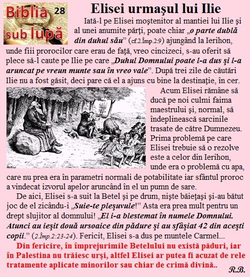 28. Elisei, urmaşul lui Ilie