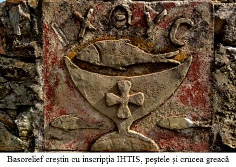 3.3.6.1 Basorelief creştin cu inscripţia IHTIS, peştele şi crucea greacă