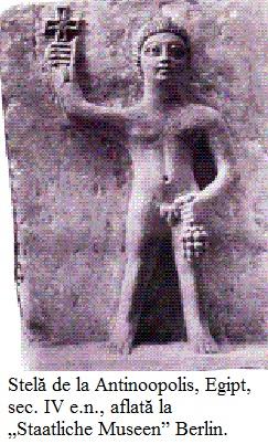 """3.3.8.1 Stelă de la Antinoopolis, Egipt, sec. IV e.n., aflată la """"Staatliche Museen"""" Berlin."""