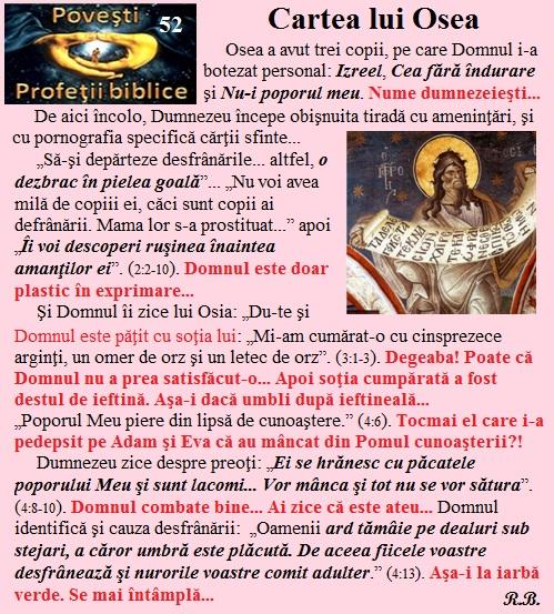 52. Cartea lui Osea