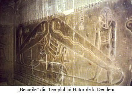 """8.4.5.1 """"Becurile"""" din Templul lui Hator de la Dendera"""
