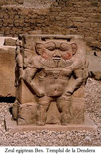 8.6.3.1 Zeul egiptean Bes. Templul de la Dendera