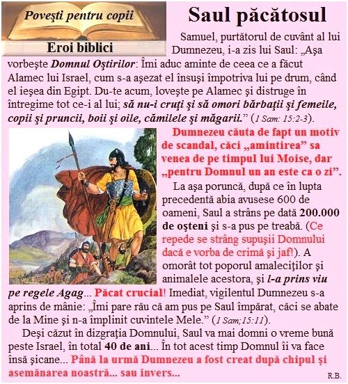 E10a.Eroi biblici-Saul păcătosul