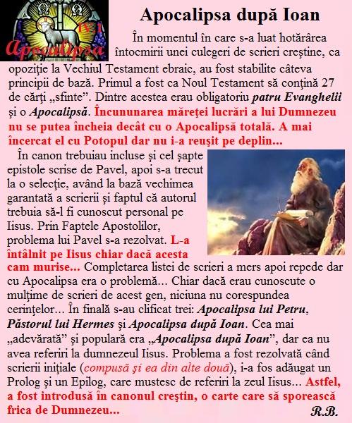 IV.01. Apocalipsa după Ioan