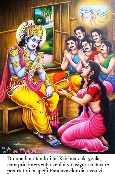 17.2.x.01 Draupadi arătându-i lui Krishna oala goală