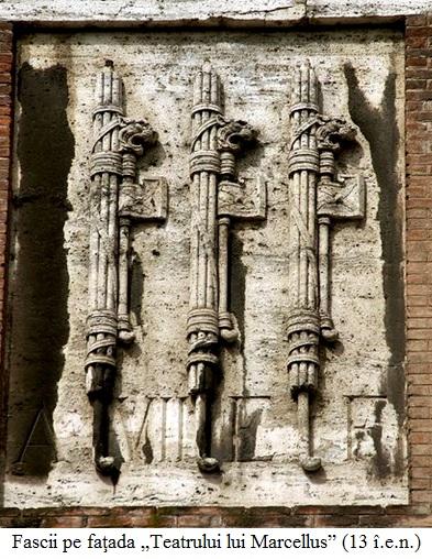 """19.3.y.01 Fascii pe faţada """"Teatrului lui Marcellus"""" Roma (13 î.e.n.)"""