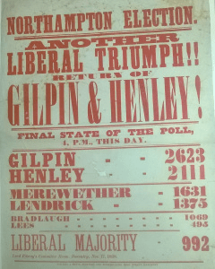 1868 General Election Results