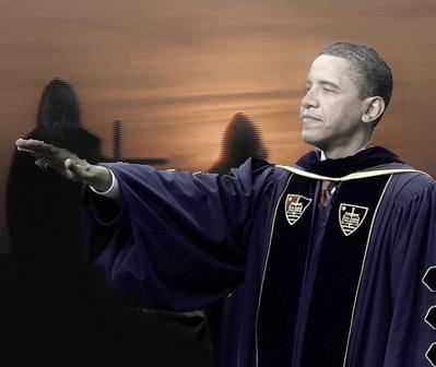 obama dark figures skull face