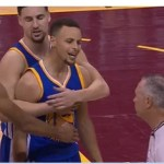 NBA Forced to Suspend Steph Curry In Game 7 For Violently Assaulting Fan with Mouthpiece