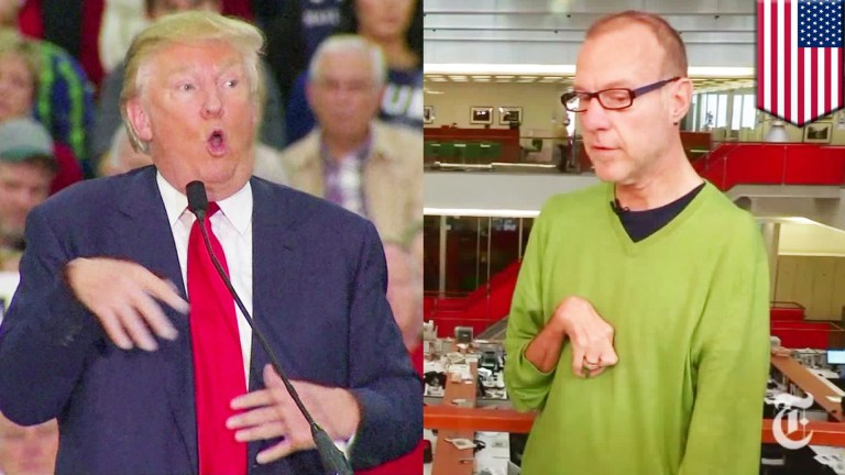 Proof:  Donald Trump Did Not Mock Reporter With Disability