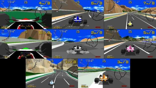 Virtua Racing Split Screen 8 Player