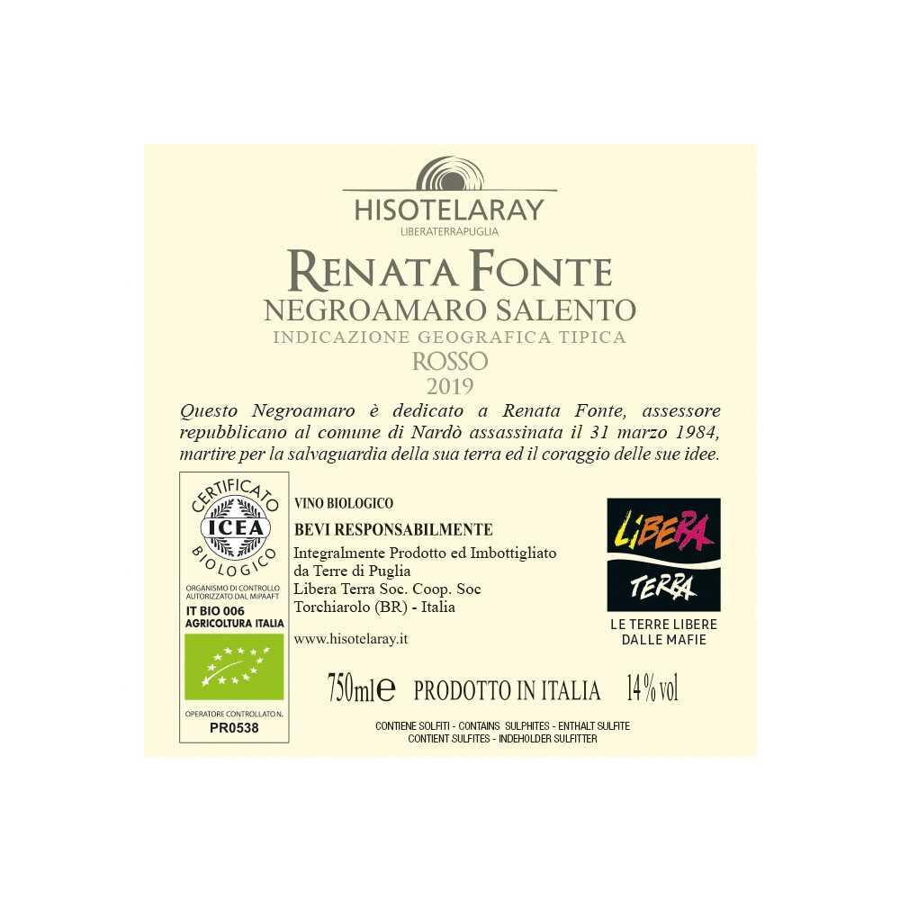 Negroamaro – Renata Fonte – IGT Salento 2019 75cl