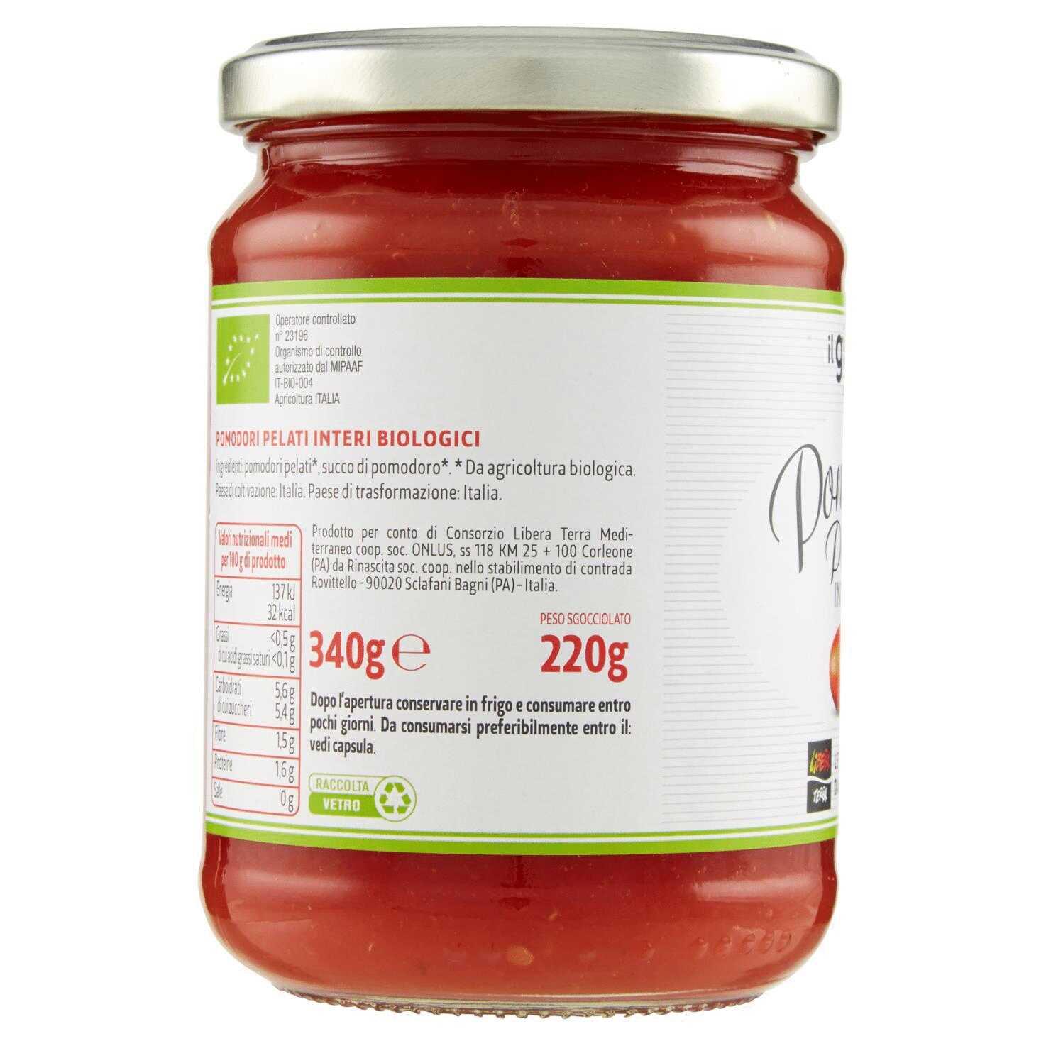 Pomodori Pelati Interi Biologici 340g