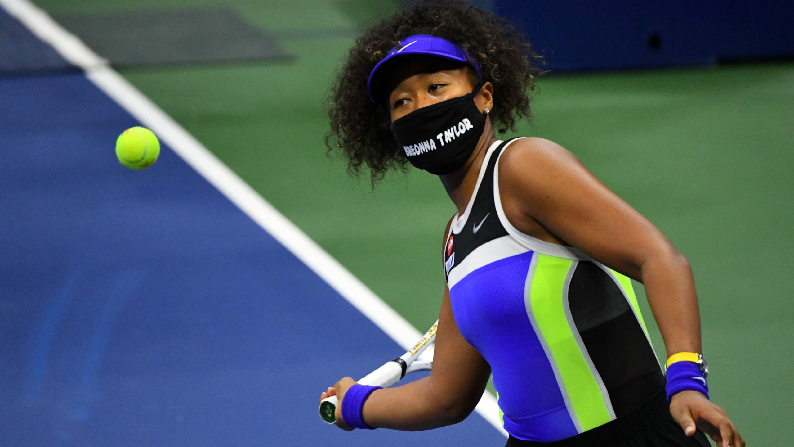 Naomi Osaka Makes A Statement On Social Justice With Face Masks During US Open