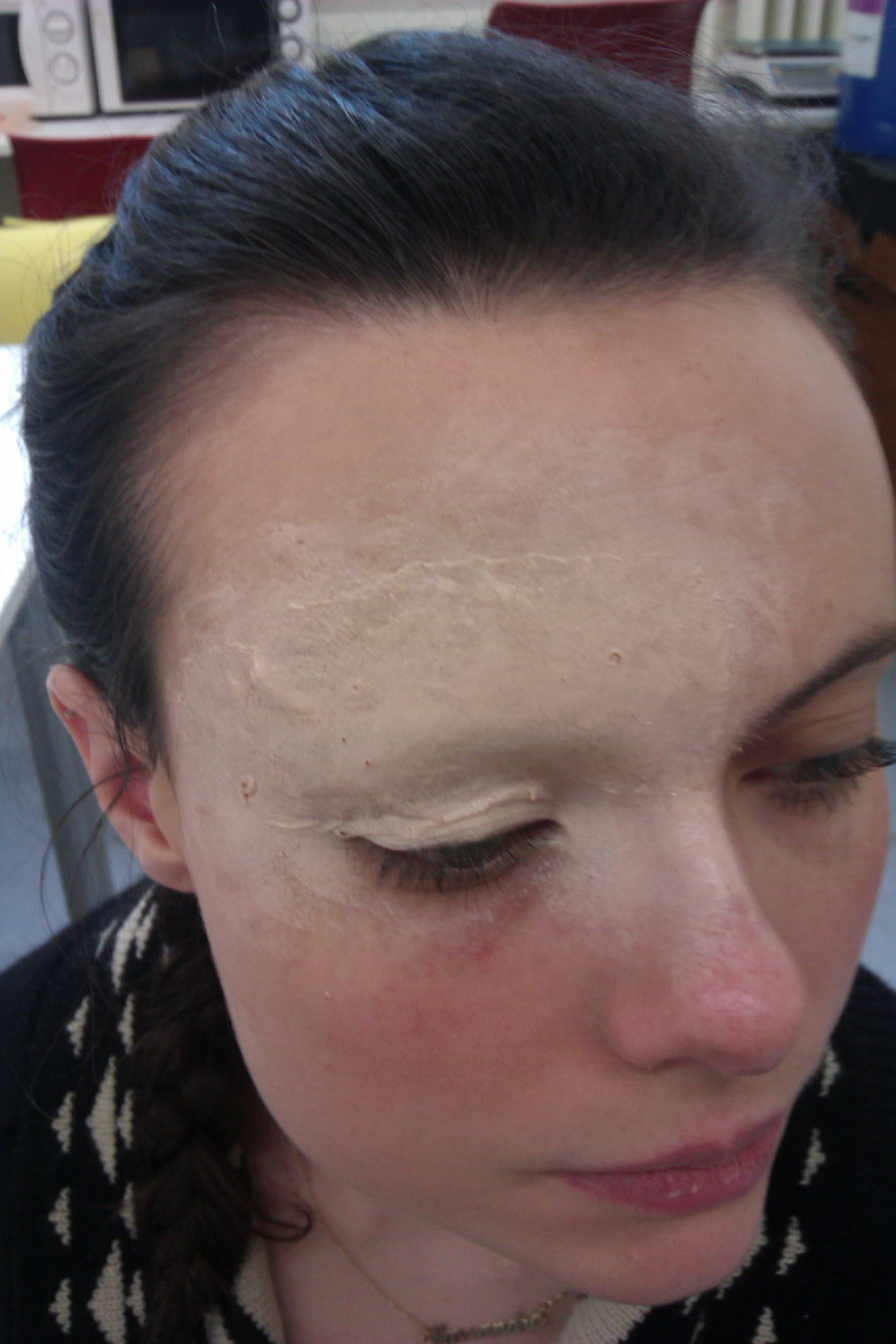 brow blocking with latex