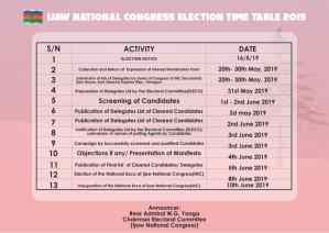 INC publishes time table, election to hold on June 8th