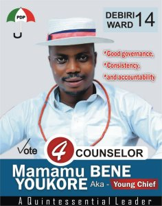 Delta LGA Poll: Mamamu Youkore Vows To Address Daunting Challenges Bedeviling Diebiri Ward If Elected – The Liberator