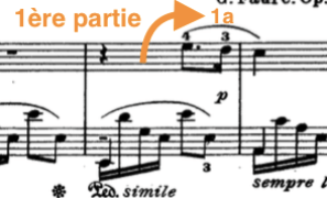 bien découper la mélodie : exemple 1ère partie
