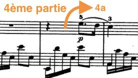 bien découper la mélodie : exemple 4e partie