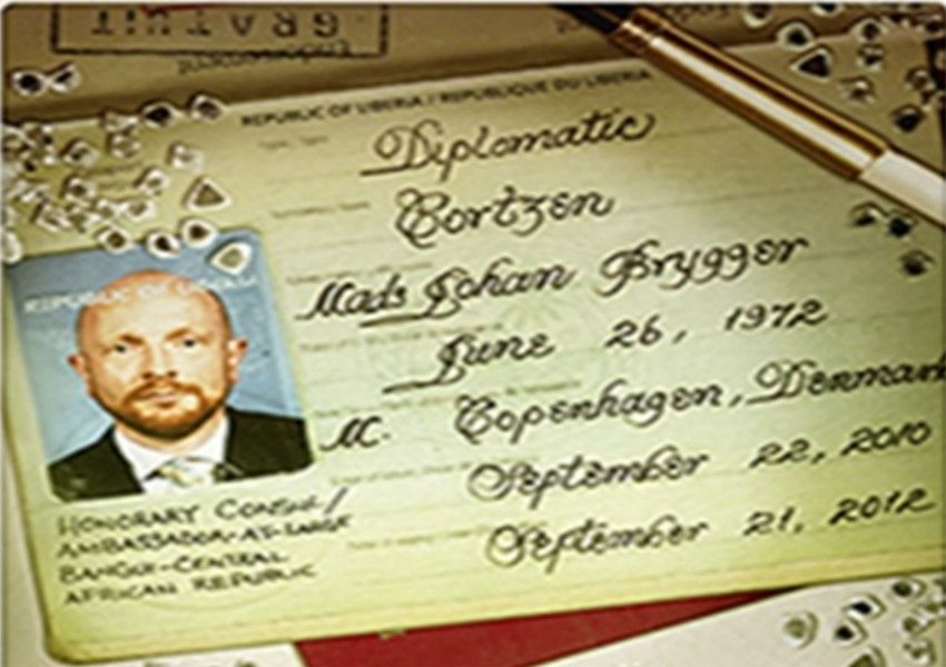 An image of Brugger's Liberian diplomatic passport