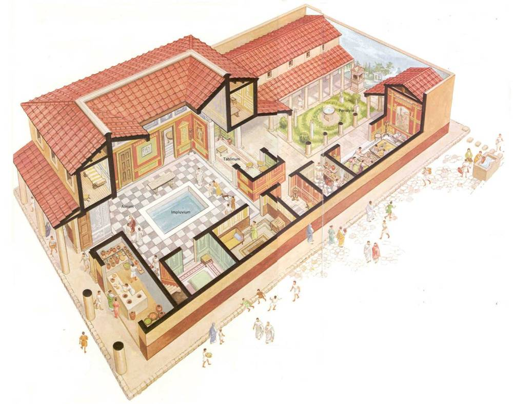 medium resolution of ancient roman house diagram