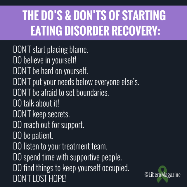 advice starting eating disorder recovery