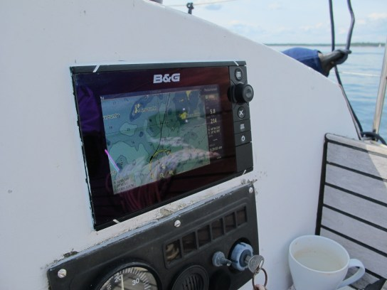 The chartplotter was working like a dream!