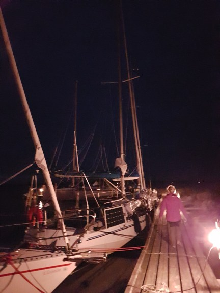 It was already dark before the boat was securely tied up in Gotland.