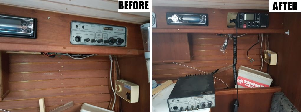 VHF before and after